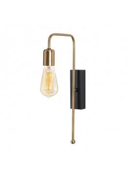 Φωτιστικό τοίχου - απλίκα PWL-0060 pakoworld Ε27 χρώμα χρυσό-μαύρο 22x6x42εκ 071-000672