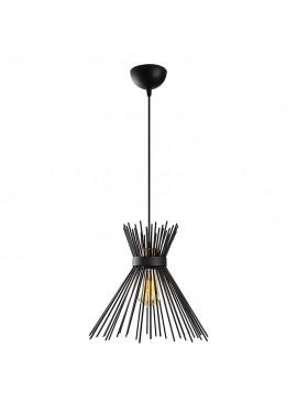 Φωτιστικό οροφής PWL-0067 pakoworld Ε27 χρώμα μαύρο Φ34x131εκ 071-000683