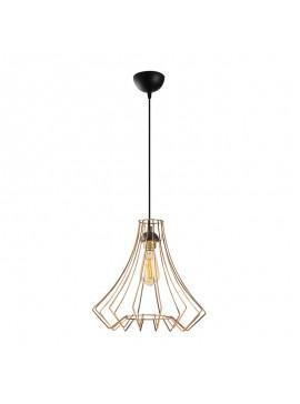 Φωτιστικό οροφής PWL-0077 pakoworld χρώμα χάλκινο-μαύρο Φ37x131εκ 071-000703