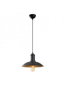 Φωτιστικό οροφής PWL-0080 pakoworld χρώμα μαύρο-χρυσό Φ32x116εκ 071-000706