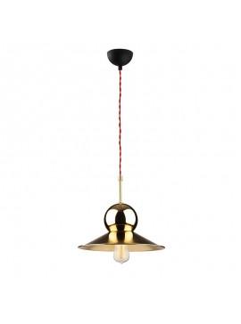 Φωτιστικό οροφής PWL-0079 pakoworld χρώμα χρυσό-μαύρο Φ31x126εκ 071-000709