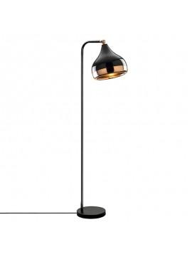 Φωτιστικό δαπέδου PWL-0068 pakoworld E27 χρώμα μαύρο-μπρονζέ 30x17x120εκ 071-000718