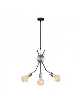 Φωτιστικό οροφής PWL-0087 pakoworld χρώμα νίκελ-μαύρο 45x5x92εκ 071-000720