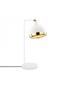 Επιτραπέζιο φωτιστικό PWL-0068 pakoworld χρώμα λευκό-χρυσό 26x17x52εκ 071-000728