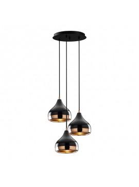 Φωτιστικό οροφής PWL-0068 pakoworld χρώμα μαύρο-μπρονζέ Φ37x111εκ 071-000732