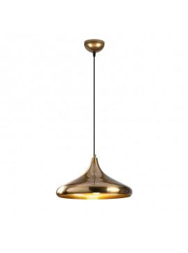 Φωτιστικό οροφής PWL-0098 pakoworld χρώμα χρυσό Φ35x116εκ 071-000759