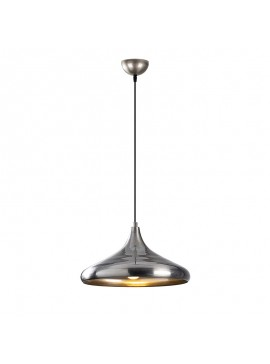 Φωτιστικό οροφής PWL-0098 pakoworld χρώμα ασημί Φ35x116εκ 071-000760