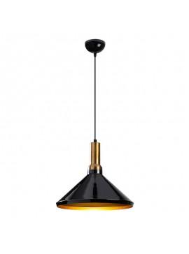 Φωτιστικό οροφής PWL-0100 pakoworld χρώμα μαύρο gloss-χρυσό Φ35x127εκ 071-000762
