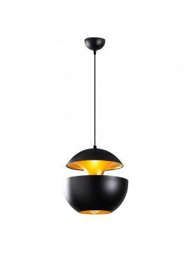 Φωτιστικό οροφής PWL-0101 pakoworld χρώμα μαύρο-χρυσό Φ31x123εκ 071-000763