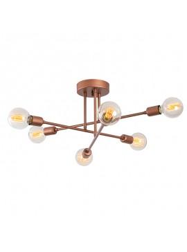 Φωτιστικό οροφής PWL-0102 pakoworld χρώμα χάλκινο Φ64x30εκ 071-000765