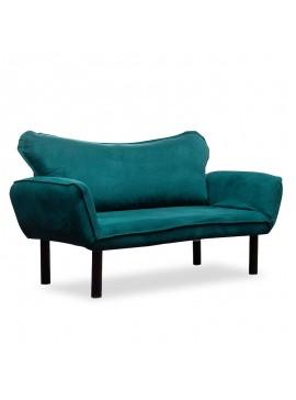 Καναπές κρεβάτι PWF-0286 pakoworld 2θέσιος με ύφασμα χρώμα πετρόλ 156x80x80cm 071-000815