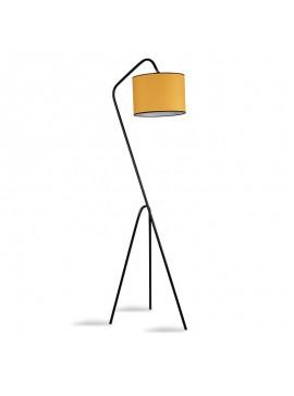 Μεταλλικό φωτιστικό δαπέδου PWL-0124 pakoworld E27 χρώμα κίτρινο - μαύρο 30x50x165εκ 071-000837