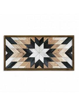 Πίνακας σε mdf PWF-0297 pakoworld με ξύλινο πλαίσιο-ψηφιακή εκτύπωση 120x3.5x60εκ 071-000853
