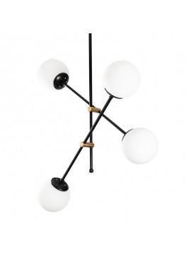 Φωτιστικό οροφής PWL-0128 pakoworld χρώμα μαύρο - λευκό 80x80x96εκ 071-000868