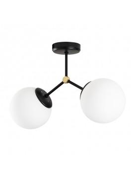 Φωτιστικό οροφής PWL-0158 pakoworld Ε27 δίφωτο μαύρο-λευκό 44x15x28εκ 071-000942
