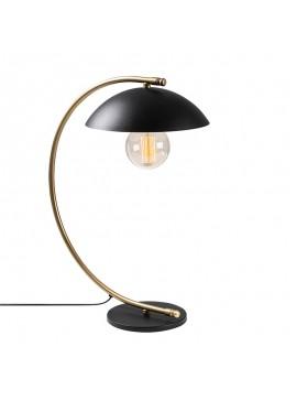 Επιτραπέζιο φωτιστικό PWL-0181 pakoworld Ε27 μαύρο-χρυσό 26x43x55εκ 071-001042