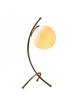Επιτραπέζιο φωτιστικό PWL-0187 pakoworld Ε27 bronze-λευκό 23x18x43εκ 071-001048