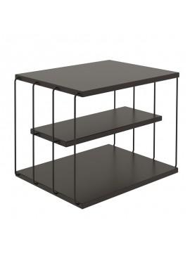 Βοηθητικό τραπέζι σαλονιού PWF-0419 pakoworld μαύρο 50x40x34εκ 071-001065