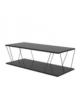 Τραπέζι σαλονιού PWF-0426 pakoworld μαύρο 120x30x50εκ 071-001074