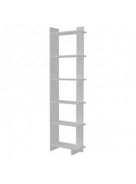 Βιβλιοθήκη PWF-0428 pakoworld λευκό 47x21,5x170εκ 071-001076