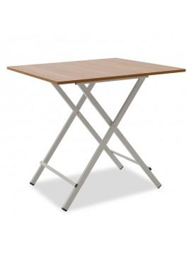 Τραπέζι Burg pakoworld πτυσσόμενο MDF χρώμα κερασί 80x80x75εκ 072-000014