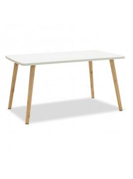 Τραπέζι σαλονιού Bondi MDF χρώμα λευκό-φυσικό 80x48x42cm 072-000015