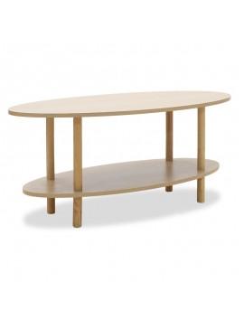 Τραπέζι σαλονιού Bolek MDF χρώμα sonoma 100x50x43εκ 072-000016