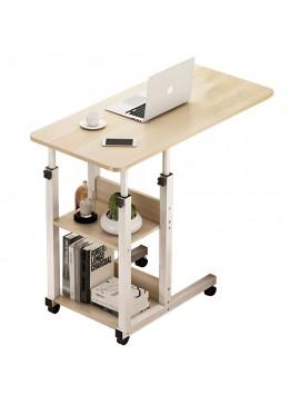 Βοηθητικό τραπέζι Babs pakoworld τροχήλατο λευκό-φυσικό 60x40x85εκ 072-000049