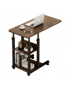 Βοηθητικό τραπέζι Babs pakoworld τροχήλατο καρυδί-μαύρο 60x40x85εκ 072-000050