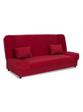 Kαναπές-κρεβάτι Tiko pakoworld 3θέσιος με αποθηκευτικό χώρο ύφασμα κόκκινο 078-000004