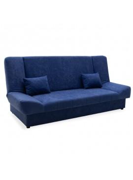 Kαναπές-κρεβάτι Tiko pakoworld 3θέσιος με αποθηκευτικό χώρο ύφασμα μπλε 078-000008