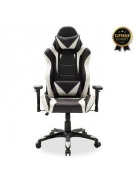 Καρέκλα γραφείου Russell-Gaming SUPREME QUALITY pu  μαύρο-λευκό 095-000003