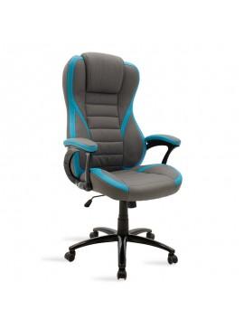 Καρέκλα γραφείου Starr gaming pakoworld pu γκρι-σιέλ 095-000008