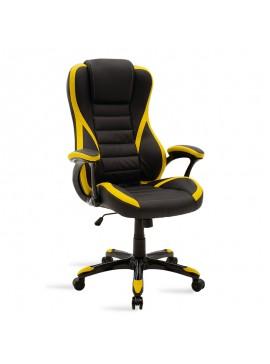 Καρέκλα γραφείου Starr gaming pakoworld pu μαύρο-κίτρινο 095-000009