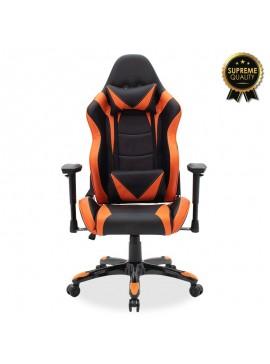 Καρέκλα γραφείου Russel-Gaming SUPREME QUALITY pu μαύρο-πορτοκαλί 095-000011
