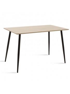 Τραπέζι Cuba pakoworld MDF χρώμα sonoma 120x80x76εκ 096-000004