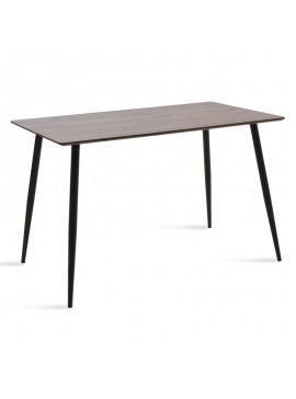 Τραπέζι Cuba pakoworld MDF χρώμα καρυδί 120x80x76εκ 096-000006
