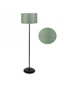 Μεταλλικό φωτιστικό δαπέδου PWL-0137 pakoworld E27 μαύρο-pvc καπέλο πράσινο Φ30x150εκ 099-000038