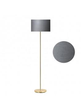 Μεταλλικό φωτιστικό δαπέδου PWL-0137 pakoworld E27 χρυσό-pvc καπέλο ανθρακί Φ30x150εκ 099-000041