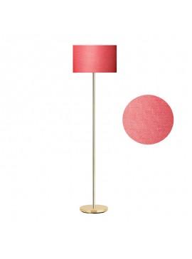 Μεταλλικό φωτιστικό δαπέδου PWL-0137 E27 pakoworld χρυσό-pvc καπέλο κόκκινο Φ30x150εκ 099-000042