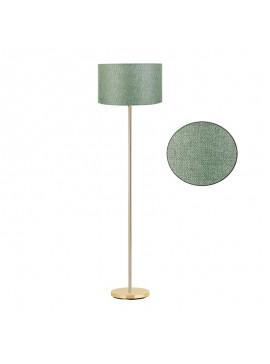 Μεταλλικό φωτιστικό δαπέδου PWL-0137 pakoworld E27 χρυσό-pvc καπέλο πράσινο Φ30x150εκ 099-000046