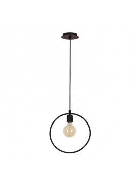 Φωτιστικό οροφής PWL-0138 pakoworld Ε27 χρώμα μαύρο 30x12x123εκ 099-000049