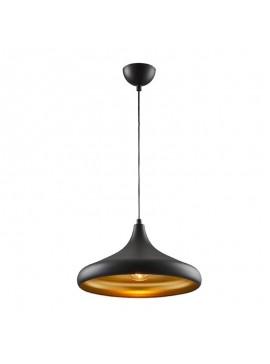 Φωτιστικό οροφής PWL-0142 pakoworld χρώμα μαύρο-χρυσό Φ36x118εκ 099-000056
