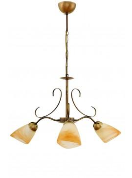 """Φωτιστικό οροφής """"SONIA"""" 3φωτο μεταλλικό σε χρώμα μπρονζέ 100-00749"""