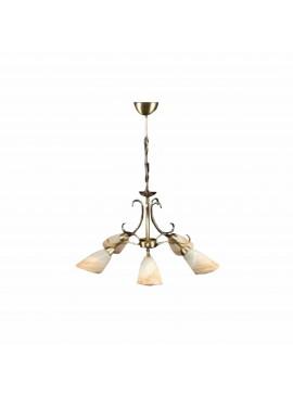 """Φωτιστικό οροφής """"SONIA"""" 5φωτο μεταλλικό σε χρώμα μπρονζέ 100-00751"""