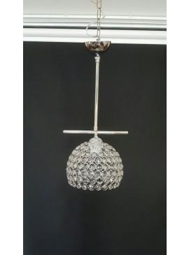 """Φωτιστικό οροφής """"CAROLINA"""" μονόφωτο μεταλλικό σε χρώμα ασημί 100-00832"""