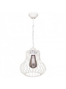 """Φωτιστικό """"DEREN-S"""" οροφής μονόφωτο μεταλλικό σε χρώμα λευκό Φ22 100-01025"""
