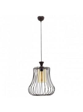 """Φωτιστικό """"DEREN-L"""" οροφής μονόφωτο μεταλλικό σε μαύρο χρώμα Φ30 100-01026"""