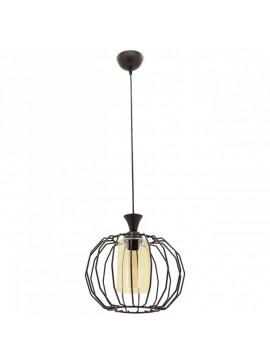 """Φωτιστικό """"PETEK"""" οροφής μονόφωτο μεταλλικό σε μαύρο χρώμα Φ30 100-01028"""