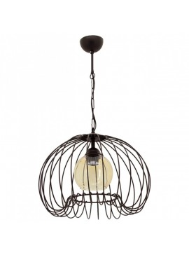 """Φωτιστικό """"DEMET"""" οροφής μονόφωτο μεταλλικό σε χρώμα μαύρο Φ37 100-01030"""